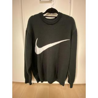 シュプリーム(Supreme)のSupreme NIKE Swoosh Sweater 黒 M(ニット/セーター)