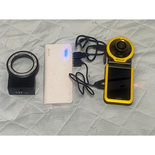 カシオ(CASIO)のCASIO EX-FR100YW 純正LEDライト、モバイルバッテリー オマケ(コンパクトデジタルカメラ)