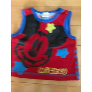 ディズニー(Disney)のミッキー柄 タンクトップ 70(タンクトップ/キャミソール)