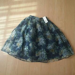 ダズリン(dazzlin)の新品花柄ブーケスカート肩リボントップス(ひざ丈スカート)
