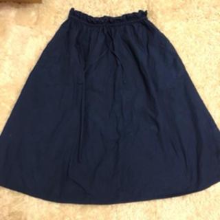 グリーンレーベルリラクシング(green label relaxing)のgreen labelの青いロングスカート(ロングスカート)