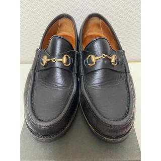 グッチ(Gucci)のGUCCI レザーローファー 22.5cm(ローファー/革靴)