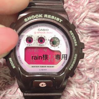 ジーショック(G-SHOCK)のG-SHOCK mini 茶色 ピンク 腕時計(腕時計(デジタル))