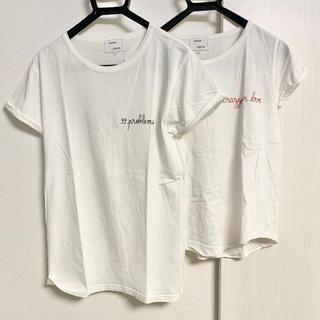 メゾンラビッシュ 刺繍T二枚セット(Tシャツ(半袖/袖なし))