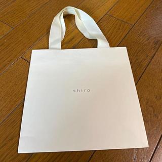 シロ(shiro)の7/12まで出品 shiro ショッピングバッグ (ショップ袋)