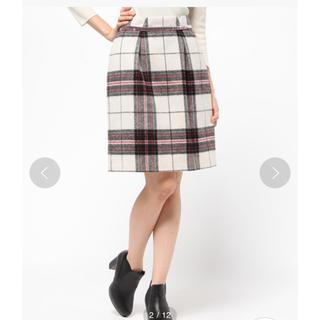 ミッシュマッシュ(MISCH MASCH)のMISCH MASCH シャギーチェックタイトスカート(ひざ丈スカート)