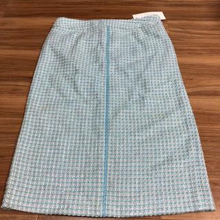 バーニーズニューヨーク(BARNEYS NEW YORK)のバーニーズニューヨーク ツィード イタリア製 タイトスカート(ひざ丈スカート)