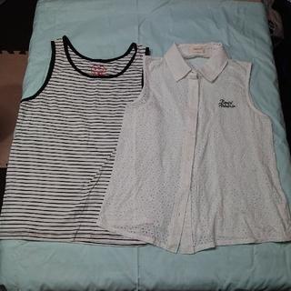 レピピアルマリオ(repipi armario)のレピピアルマリオ・(Mサイズ)ノースリーブシャツとタンクトップ2点セット(Tシャツ/カットソー)