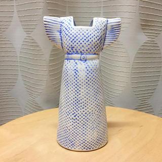 Lisa Larson - 【廃盤レア・送料込】Lisa Larson◆ワードローブ◆ドレス◆ブルー◆花瓶