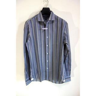 オリアン(ORIAN)の【美品】オリアン ストライプワイドカラーシャツ ORIAN サイズ42(シャツ)