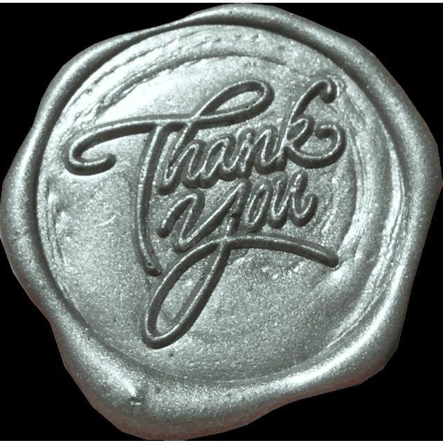 【ゆき様専用】シーリングスタンプ1 thank you 1 25㎜ インテリア/住まい/日用品の文房具(印鑑/スタンプ/朱肉)の商品写真
