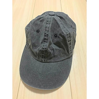 アーバンリサーチ(URBAN RESEARCH)のUSAロゴ入りキャップ 帽子 グレー  ビンテージウォッシュ生地 コットン 美品(キャップ)