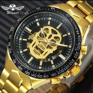 【新品】海外限定品メンズ腕時計 機械式 ゴールド(腕時計(アナログ))