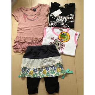 ベビーギャップ(babyGAP)の☆夏物最終値下げ☆トップス3点&みせかけパンツ80cm(Tシャツ)