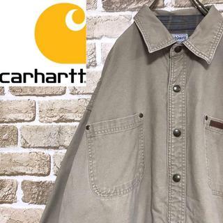 カーハート(carhartt)の【カーハート】肉厚コットンシャツジャケット カバーオール ビッグサイズ(カバーオール)