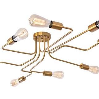 新品 お洒落な照明 8灯電球のインダストリアルな空間に◎  アンティークゴールド(天井照明)