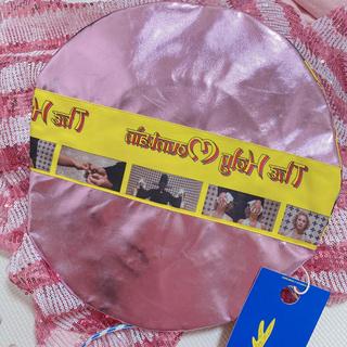 【新品・タグ付き】mooly ピンク 映画プリント レーザー ベレー帽 帽子(ハンチング/ベレー帽)