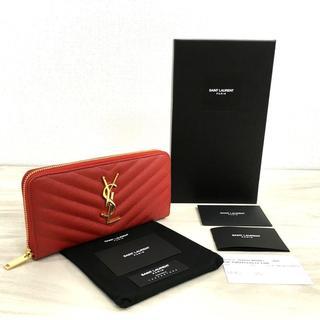 イヴサンローランボーテ(Yves Saint Laurent Beaute)の未使用品 SAINT LAURENT ジップラウンドファスナーウォレット 455(財布)
