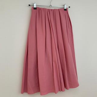 デミルクスビームス(Demi-Luxe BEAMS)のBEAMS  フレアピンクスカート(ロングスカート)