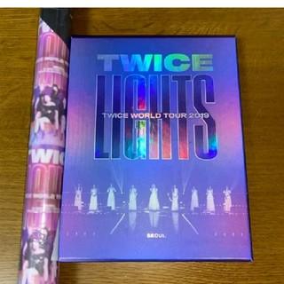 ウェストトゥワイス(Waste(twice))の【新品未開封】TWICE lights Blu-ray ポスター付(アイドル)