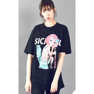 ミルクボーイ(MILKBOY)のMILKBOY  SICK GIRL BIG Tシャツ XL ブラック(Tシャツ/カットソー(半袖/袖なし))