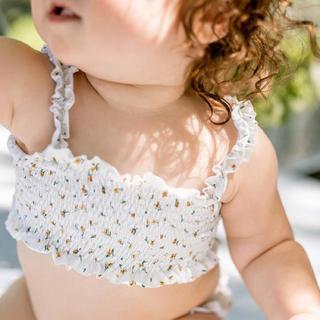 キャラメルベビー&チャイルド(Caramel baby&child )の20SS/fin&vince/smocked bikini/chamomile(水着)