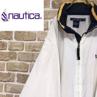 ノーティカ(NAUTICA)の【ノーティカ 】バックプリントポリジャケット ビッグサイズ 襟収納 ホワイト(ブルゾン)