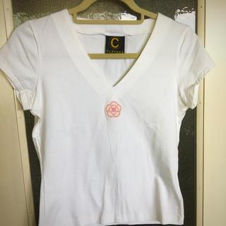 クレイサス(CLATHAS)の CLATHAS  クレイサス  フレンチスリーブ 白Tシャツ(Tシャツ(半袖/袖なし))
