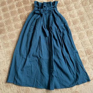 マライカ(MALAIKA)のMALAIKA  麻×綿 ロングスカート グリーン(ロングスカート)