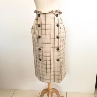 ナイスクラップ(NICE CLAUP)の【美品】ナイスクラップ  グレンチェック スカート(ひざ丈スカート)