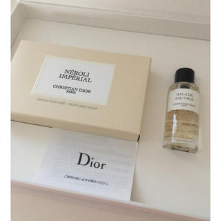 クリスチャンディオール(Christian Dior)のディオール ノベルティ石鹸とオードゥパルファム 非売品 DIOR 新品(ノベルティグッズ)