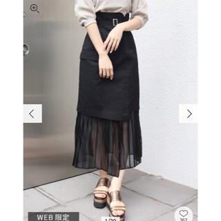 ムルーア(MURUA)のMURUA ヘムシアープリーツラップスカート(ひざ丈スカート)