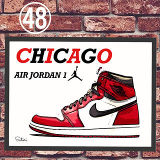 AIR JORDAN 1 Chicago コミックシューズ ポスター 1枚(スニーカー)