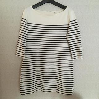 ユニクロ(UNIQLO)のUNIQLOボーダーチュニック(Tシャツ(長袖/七分))