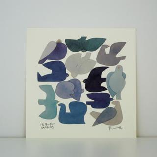 イデー(IDEE)のバーズワーズ ポスター 20  [BLUE BIRD](その他)