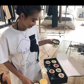 シールームリン(SeaRoomlynn)の完売品 Juemi MACCIU コラボ Tシャツ 白(Tシャツ(半袖/袖なし))