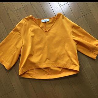 ルシェルブルー(LE CIEL BLEU)のルシェルブルー トップスカットソー イエローオレンジ(シャツ/ブラウス(長袖/七分))