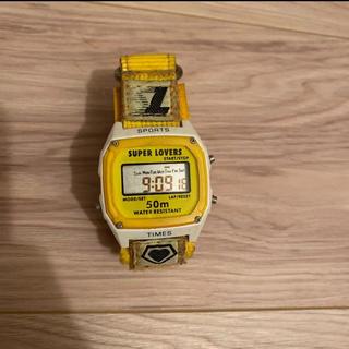 ジーショック(G-SHOCK)のスーパーラバーズ 激レア 腕時計 イエロー 電池 Gショック(腕時計(デジタル))