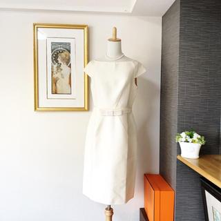 クリスチャンディオール(Christian Dior)の極美品 ディオール おりぼん  デコルテ ワンピース ドレス(ひざ丈ワンピース)