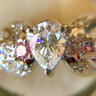 タサキ(TASAKI)のTASAKI ダイヤリング ファンシーインテンスピンクダイヤ &ペアシェイプ(リング(指輪))