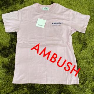 アンブッシュ(AMBUSH)のAMBUSH Tシャツ ピンク(Tシャツ/カットソー(半袖/袖なし))
