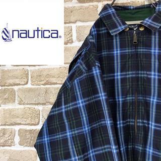 ノーティカ(NAUTICA)の【ノーティカ 】nauticaチェックリバーシブルジャケット 刺繍ロゴ 総柄(ブルゾン)
