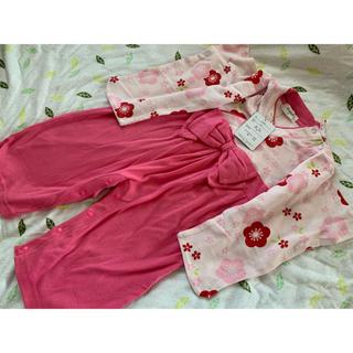 着物風ロンパース * ピンク系 (和服/着物)