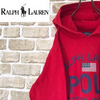 ポロラルフローレン(POLO RALPH LAUREN)の【ポロラルフローレン】ロゴプリントパーカー スウェット 裏起毛 プルオーバー(パーカー)