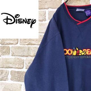 ディズニー(Disney)の【ディズニー】くまのプーさん刺繍トレーナー ビッグサイズ スウェット 裏起毛(スウェット)