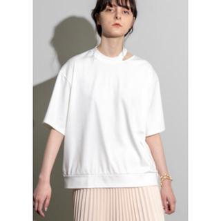 maison special メゾンスペシャル スリットネックビッグTシャツ(Tシャツ(半袖/袖なし))