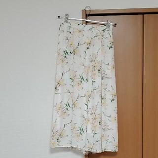 プロポーションボディドレッシング(PROPORTION BODY DRESSING)の花柄スカーチョ ガウチョ シフォン(その他)