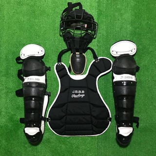 Rawlings - 一般軟式野球 キャッチャー マスク プロテクター レガース 防具セット