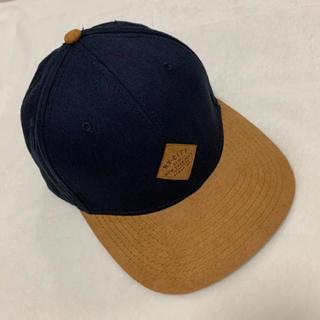 エイチアンドエム(H&M)のH&M レディース メンズ 帽子 キャップ ネイビー ブラウン(キャップ)