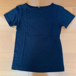 ムジルシリョウヒン(MUJI (無印良品))の美品!お買い得!MUJIボートネック半袖Tシャツ(Tシャツ(半袖/袖なし))